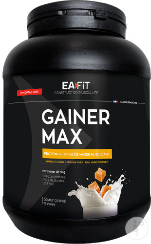 EA Fit Gainer Max Saveur Caramel Pot 1,1kg