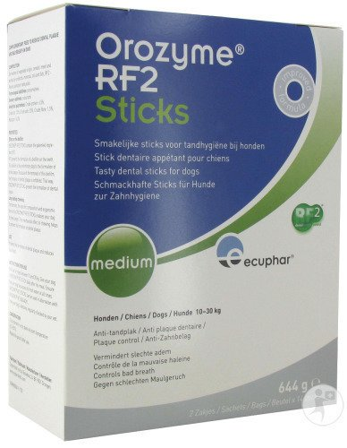 Ecuphar Orozyme RF2 Sticks Appétents Chien Medium 10-30kg Sticks 28