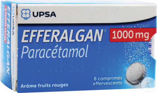 Efferalgan 1000mg Paracétamol Arôme Fruits Rouges 8 Comprimés Effervescents
