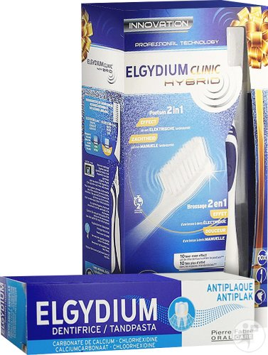 Elgydium Clinic Hybrid Brosse À Dents + Gratuit Dentifrice Anti-Plaque 75ml