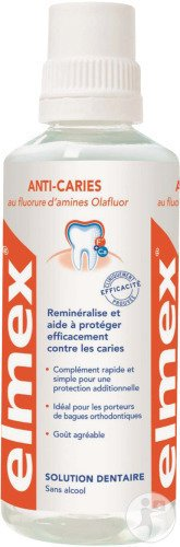 Elmex Solution Dentaire Anti-Caries Flacon 400ml Nouvelle Formule