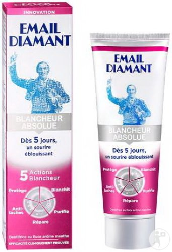 email diamant dentifrice blancheur absolue tube 75ml achetez ici prix bas. Black Bedroom Furniture Sets. Home Design Ideas
