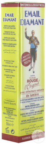 Email Diamant Dentifrice Rouge Tube 50ml