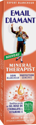 Email Diamant Mineral Therapist Soin Blancheur Et Protection Gencives Arôme Menthe Tube 75ml