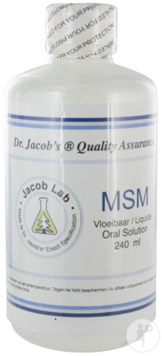 Energetica Natura Jacob Lab MSM Oral Solution 240ml