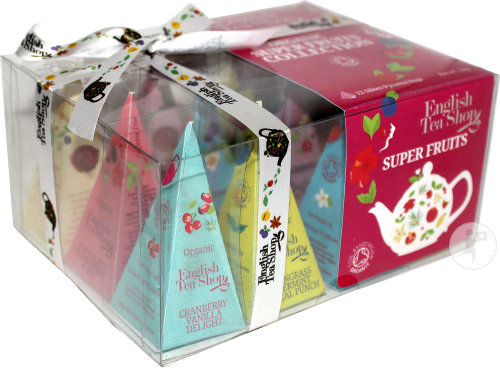 English Tea Shop Set Cadeau Pyramide Super Fruits 12 pyramides