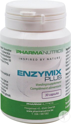 Enzymix Plus V-caps 30 Pharmanutrics