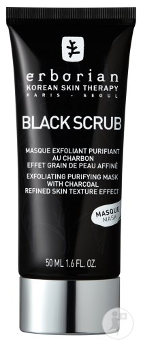 Erborian Black Scrub Masque Exfoliant Purifiant Au Charbon 50ml