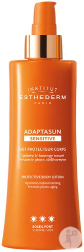 Esthederm Adaptasun Sensitive Lait Protecteur Corps Soleil Fort Flacon Pompe 200ml