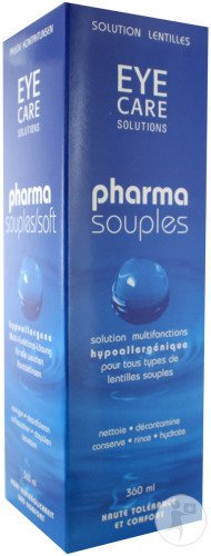 Eye Care Pharma Souples Solution Lentilles Contact 360ml