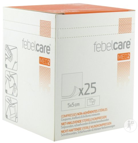 Febelcare Med2 Compr.n/adh. Ster. 5,0x 5,0cm 25x1