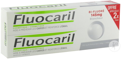 Fluocaril Dentifrice Bi-Fluoré 145mg Blancheur Duo 2x75ml