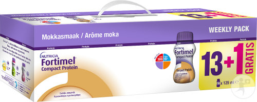 Fortimel Compact Protein Weekly Pack Moka 13x125ml + 1 Gratuit Promo