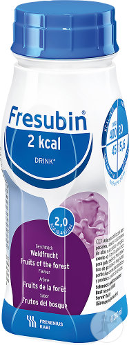 Fresubin 2 Kcal Drink Fruits De La Forêt Flacons 4x200ml