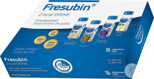 Fresubin 2kcal Drink Assortiment De Goûts Flacons 4x200ml
