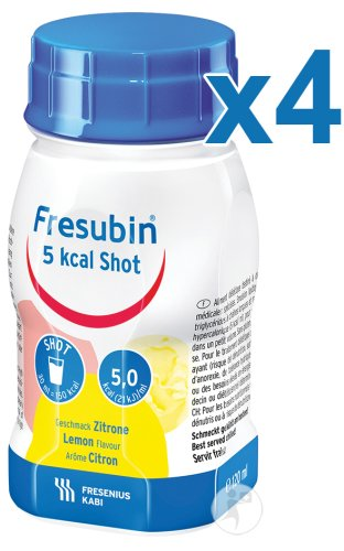 Fresubin 5 Kcal Shot Citron Flacons 4x120ml