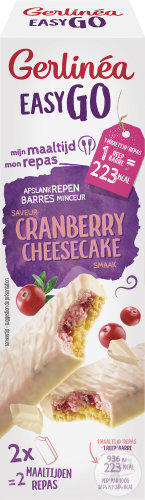 Gerlinéa Easy Go Barres Arôme Cranberry Cheesecake 2 Pièces