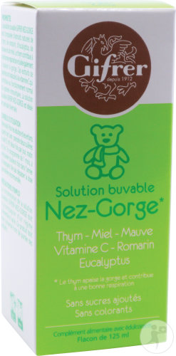 Gifrer Enfant Solution Buvable Nez-Gorge Flacon 125ml