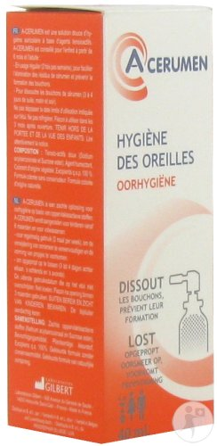 Gilbert A-Cerumen Spray Auriculaire Formule Coloré 40ml