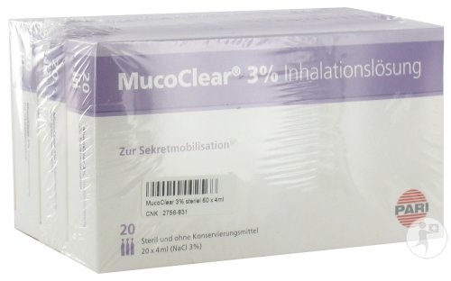 Henrotech Mucoclear 3% Nacl 60 Ampoules 4ml