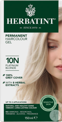 Herbatint Soin Colorant Permanent Peaux Sensibles 10N Blond Platine 1 Kit
