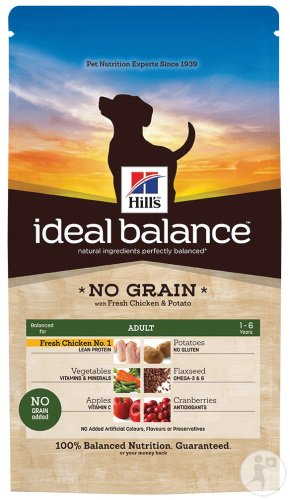 Hill's Pet Nutrition Ideal Balance No Grain Canine Adulte Poulet Frais Et Pommes De Terre 2kg