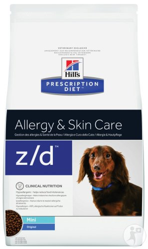 Hill's Pet Nutrition Prescription Diet Allergy & Skin Care Z/D Canine Mini Original 1,5kg