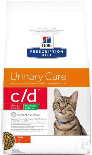 Hill's Pet Nutrition Prescription Diet Urinary Stress C/D Reduced Calorie Feline Poulet 1,5kg