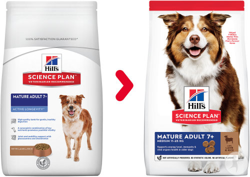 Hill's Pet Nutrition Science Plan Canine Mature Adult 7+ Active Longevity Agneau Et Riz 12kg