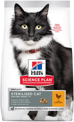 Hill's Pet Nutrition Science Plan Feline Sterilised Cat Mature Adult 7+ Chicken Sachet 1,5kg