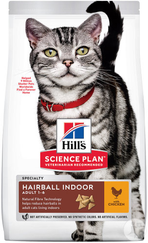 Hill's Pet Nutrition Science Plan Hairball Indoor Feline Adult 1-6 Chicken Sachet 1,5kg