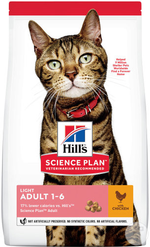 Hill's Science Plan Féline Adulte Light Au Poulet 1,5kg