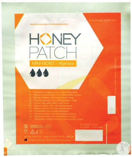 Honeypatch Mini-Moist-Alginate Pansement D'Alginate Avec Miel Antibactérien 5x5cm Pièce 1