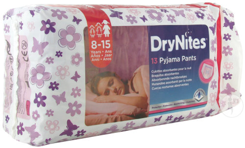 Huggies Drynites Girl Extra-large 8-15 Ans 13 Pièces