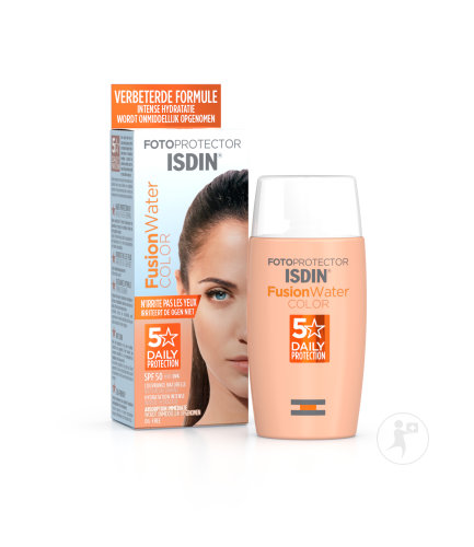 Isdin Fotoprotector Fusion Water Color Couvrance Naturelle Toucher Sec Sans Huile IP50 Flacon 50ml