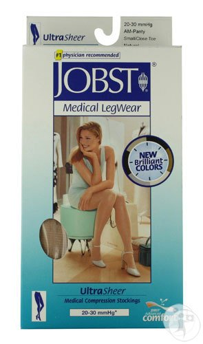 Jobst UltraSheer Confort C2 Panty Pied Fermé Natural Small 1 Paire