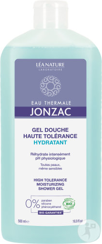 Jonzac REhidrate Gel Douche Usage Quotidien Bio Flacon 500ml