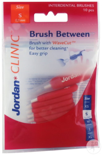 Jordan Clinic Brush Between Brossettes Interdentaires Taille S 10 Pièces