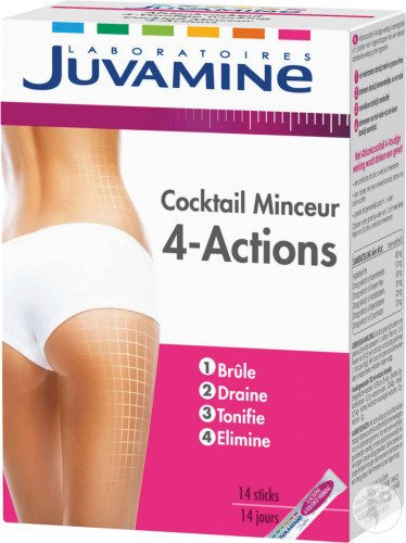 Juvamine Cocktail Minceur 4 Actions 14 Sticks : Achetez