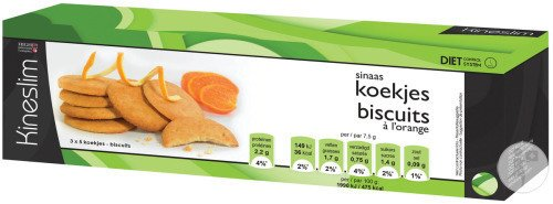Kineslim Biscuits Orange 3x5 Biscuits