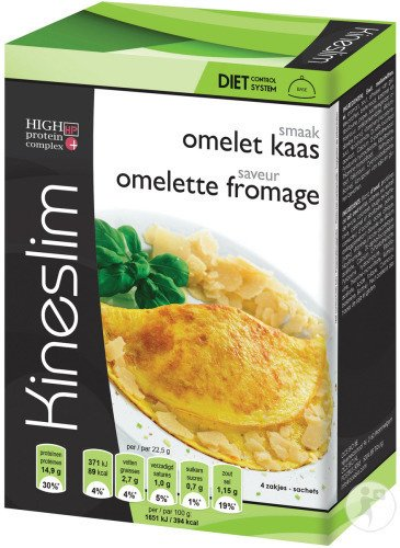 Kineslim Omelette Fromage Poudre 4x22,5g