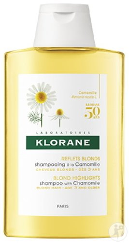 Klorane Reflets Blonds Shampoing À La Camomille Cheveux Blonds 200ml