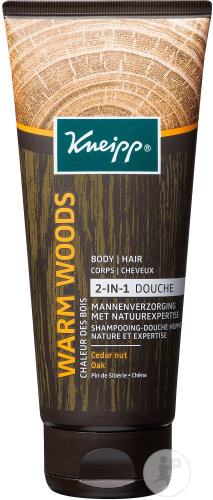 Kneipp Warm Woods Gel Douche 2 En 1 Pin de Sibérie Chêne 200ml