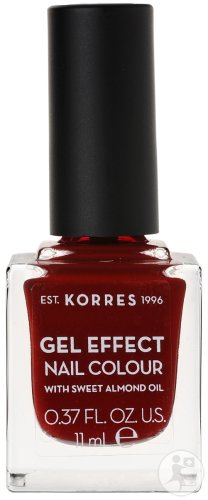 Korres Huile D'Amande Douce Vernis Gel Effect 59 Wine Red 11ml