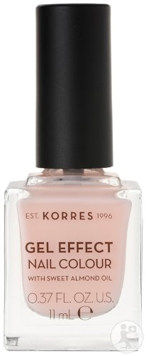Korres KM Gel Effect Nail Colour 04 Peony Pink 11ml