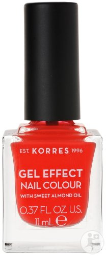 Korres KM Gel Effect Nail Colour 45 Coral 11ml