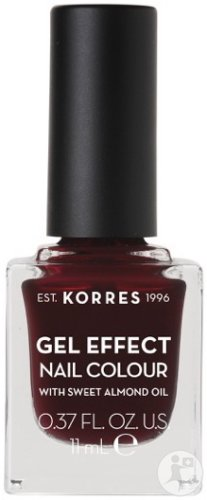 Korres KM Gel Effect Nail Colour 57 Burgundy Red 11ml