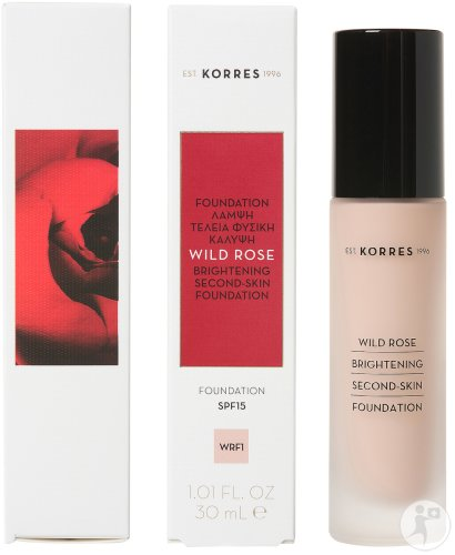 Korres Make Up Wild Rose Fond De Teint WRF1 IP15 Flacon 30ml