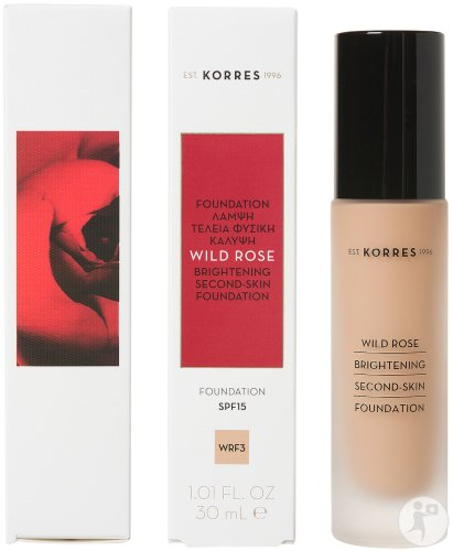 Korres Make Up Wild Rose Fond De Teint WRF3 IP15 Flacon 30ml