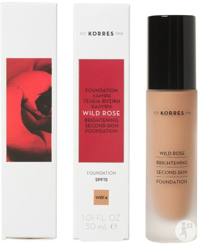 Korres Make Up Wild Rose Fond De Teint WRF4 IP15 Flacon 30ml